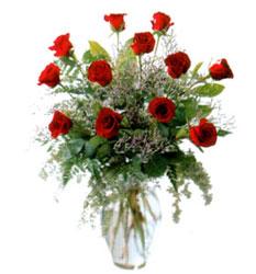 Vazo içerisinde 11 kirmizi gül  Gaziantep çiçek yolla , çiçek gönder , çiçekçi