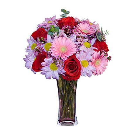 Görsel hediye karisik cam mevsim demeti  Gaziantep çiçek mağazası , çiçekçi adresleri