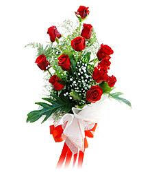 11 adet kirmizi güllerden görsel sölen buket  Gaziantep çiçek yolla , çiçek gönder , çiçekçi