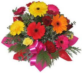 Karisik mevsim çiçeklerinden buket  Gaziantep çiçek , çiçekçi , çiçekçilik