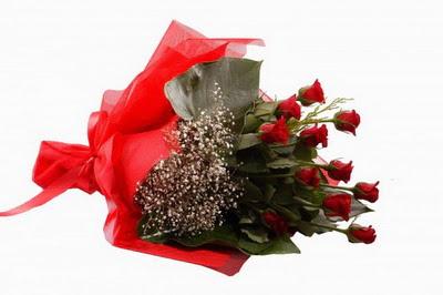 Gaziantep kaliteli taze ve ucuz çiçekler  11 adet kirmizi gül buketi çiçekçi