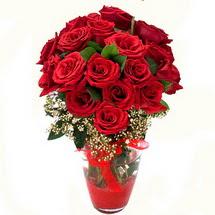 Gaziantep kaliteli taze ve ucuz çiçekler   9 adet kirmizi gül
