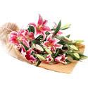 Gaziantep online çiçek gönderme sipariş  4 adet pembe lilyum buketi