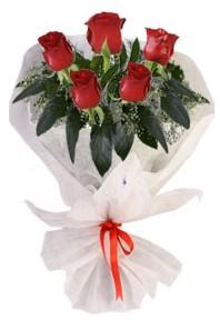 5 adet kirmizi gül buketi  Gaziantep yurtiçi ve yurtdışı çiçek siparişi