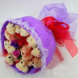 11 adet ayiciktan buket  Gaziantep online çiçekçi , çiçek siparişi