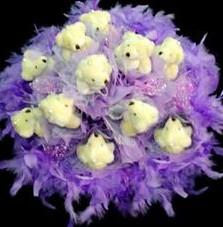 11 adet pelus ayicik buketi  Gaziantep hediye sevgilime hediye çiçek