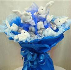 7 adet pelus ayicik buketi  Gaziantep hediye sevgilime hediye çiçek