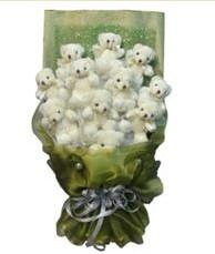 11 adet pelus ayicik buketi  Gaziantep İnternetten çiçek siparişi