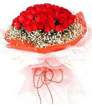 Gaziantep çiçek , çiçekçi , çiçekçilik  21 adet askin kirmizi gül buketi