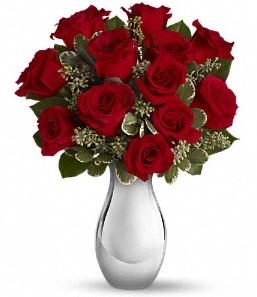 Gaziantep çiçek yolla , çiçek gönder , çiçekçi    vazo içerisinde 11 adet kırmızı gül tanzimi