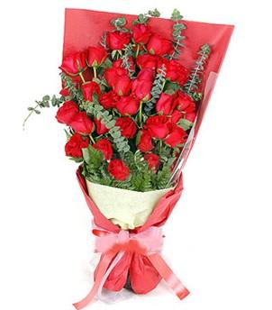 Gaziantep uluslararası çiçek gönderme  37 adet kırmızı güllerden buket