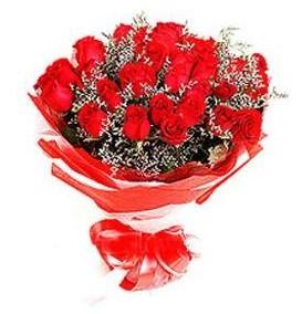 Gaziantep çiçekçi mağazası  12 adet kırmızı güllerden görsel buket