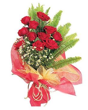 Gaziantep online çiçek gönderme sipariş  11 adet kırmızı güllerden buket modeli