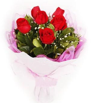 Gaziantep çiçek , çiçekçi , çiçekçilik  kırmızı 6 adet gülden buket