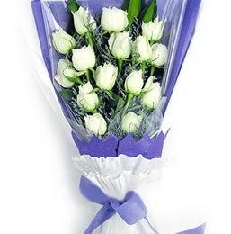 Gaziantep çiçek mağazası , çiçekçi adresleri  11 adet beyaz gül buket modeli