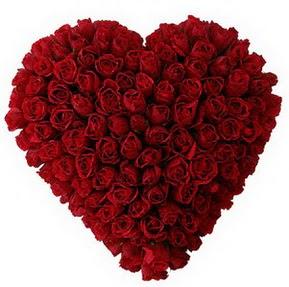 Gaziantep çiçek mağazası , çiçekçi adresleri  muhteşem kırmızı güllerden kalp çiçeği