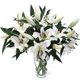 Gaziantep 14 şubat sevgililer günü çiçek  3 dal görsel casablanca vazo tanzimi