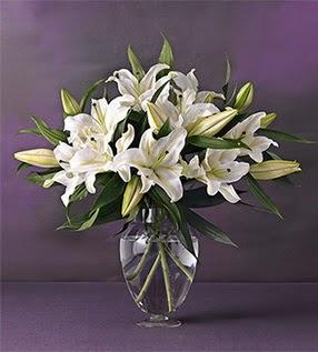 Gaziantep online çiçek gönderme sipariş  4 dal cazablanca vazo çiçeği