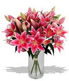 4 dal cazablanca görsel vazosu  Gaziantep çiçek mağazası , çiçekçi adresleri