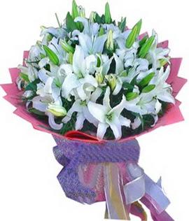 7 dal cazablanca görsel buketi  Gaziantep çiçek mağazası , çiçekçi adresleri