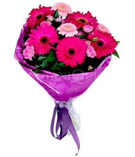 Gaziantep kaliteli taze ve ucuz çiçekler  karışık gerbera çiçeği buketi
