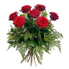 Gaziantep İnternetten çiçek siparişi  7 adet kırmızı gülden buket