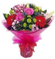 Karışık mevsim çiçekleri demeti  Gaziantep İnternetten çiçek siparişi