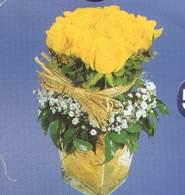 Gaziantep çiçek satışı  Cam vazoda 9 Sari gül