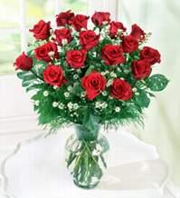 Gaziantep güvenli kaliteli hızlı çiçek  9 adet mika yada vazoda kirmizi güller
