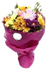 1 demet karışık görsel buket  Gaziantep çiçek satışı