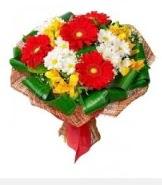 1 demet karışık buket  Gaziantep çiçek , çiçekçi , çiçekçilik