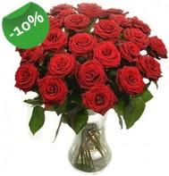 Vazo içerisinde 25 adet kırmızı gül  Gaziantep çiçek gönderme sitemiz güvenlidir