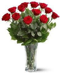 11 adet kırmızı gül vazoda  Gaziantep online çiçekçi , çiçek siparişi