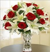 12 adet kırmızı gül 2 dal kazablanka vazosu  Gaziantep anneler günü çiçek yolla