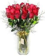 27 adet vazo içerisinde kırmızı gül  Gaziantep online çiçek gönderme sipariş
