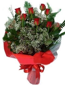 7 kırmızı gül buketi  Gaziantep hediye çiçek yolla