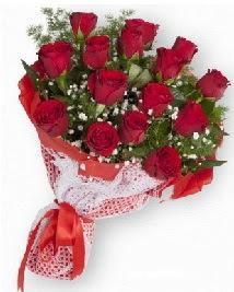 11 kırmızı gülden buket  Gaziantep internetten çiçek satışı