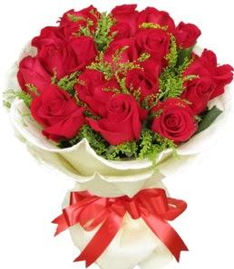 19 adet kırmızı gülden buket tanzimi  Gaziantep hediye çiçek yolla