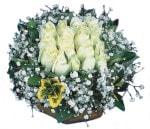 Gaziantep yurtiçi ve yurtdışı çiçek siparişi  Beyaz harika bir gül sepeti