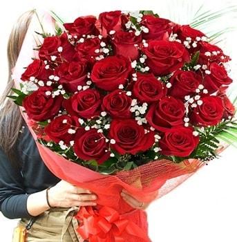 Kız isteme çiçeği buketi 33 adet kırmızı gül  Gaziantep cicek , cicekci