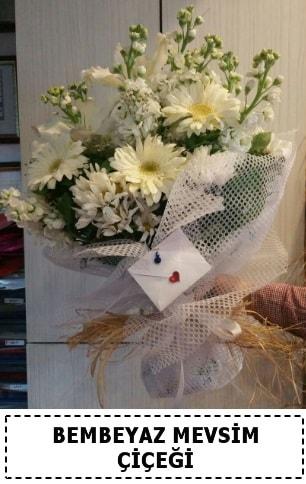 Bembeyaz görsel mevsim çiçek buketi  Gaziantep cicekciler , cicek siparisi