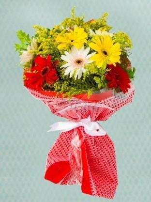 Karışık Gelbera Buketi  Gaziantep kaliteli taze ve ucuz çiçekler