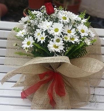 Papatya 1 adet kırmızı gül buketi  Gaziantep yurtiçi ve yurtdışı çiçek siparişi
