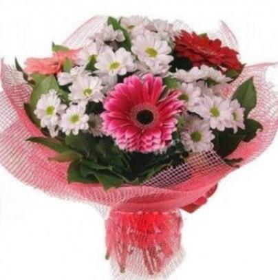 Gerbera ve kır çiçekleri buketi  Gaziantep online çiçekçi , çiçek siparişi