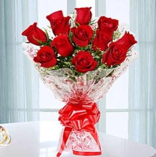 11 adet kırmızı gülden görsel şık buket  Gaziantep çiçek online çiçek siparişi