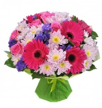 Karışık mevsim buketi mevsimsel buket  Gaziantep anneler günü çiçek yolla