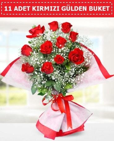 11 Adet Kırmızı Gül Buketi  Gaziantep online çiçekçi , çiçek siparişi