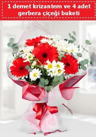Krizantem ve Gerbera Buketi  Gaziantep kaliteli taze ve ucuz çiçekler