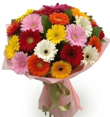 Karışık büyük boy gerbera çiçek buketi  Gaziantep anneler günü çiçek yolla